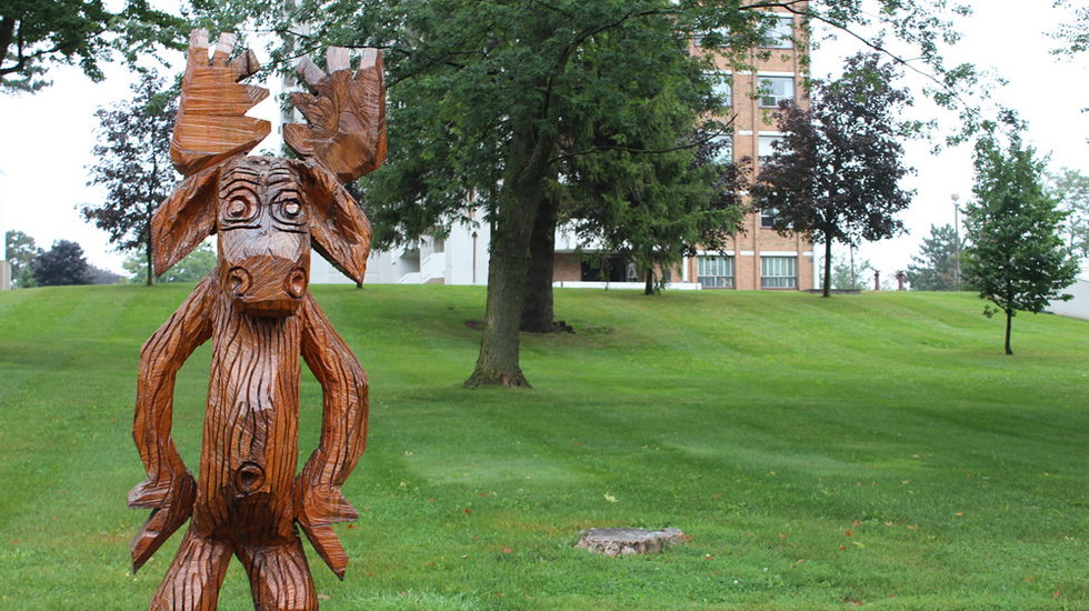 "<h1>Moose with Attitude - Orangeville </h1>Visit the many charming wooden sculptures throughout the town of Orangeville.   <br><a href=""http://orangevilletourism.ca/files/2012/12/Tree-Map-2012-web.pdf"" style=""border:none;text-decoration:underline;"">Click here for more information.</a>"